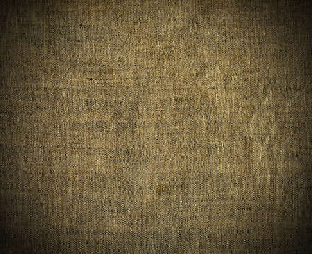 Natural linen striped grunge textured sacking burlap vintage background photo