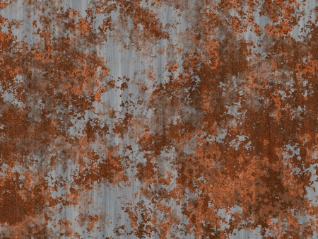 patina: Abstract generated textured rust metal surface background Stock Photo