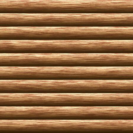 Weathered wooden logs natural pattern background, digital illustration Stock Photo
