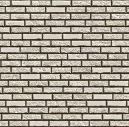 Abstract generated white rough brick wall surface background photo