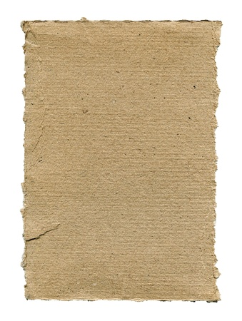Textured striped cardboard with torn edges isolated over white Stock Photo - 16906166
