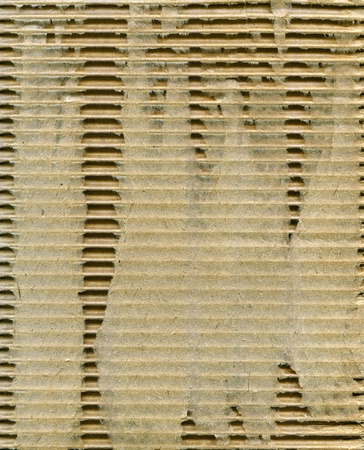 Textured corrugated striped cardboard with natural fiber parts Stock Photo - 17716101
