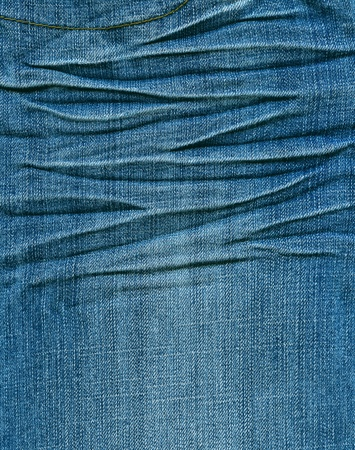 cotton  jeans: Striped textured blue used jeans denim linen vintage background