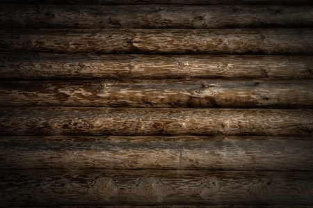 Weathered wooden logs with natural pattern grunge background photo