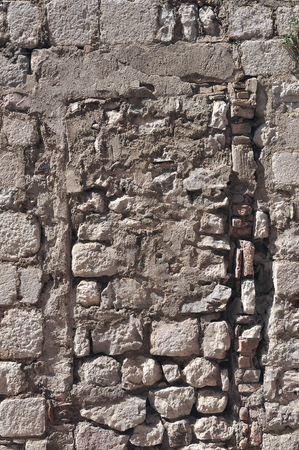 Weathered antique old cracked stone blocks wall retro background Stock Photo - 23878514