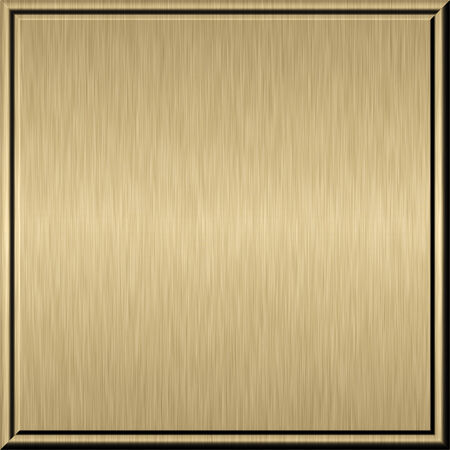 Shiny brushed gold metal plate techno background