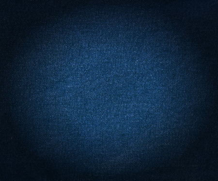 macro texture: Striped textured blue jeans used denim linen fabric background Stock Photo