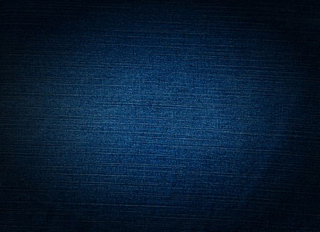 textile image: Striped textured blue used jeans denim linen vintage background