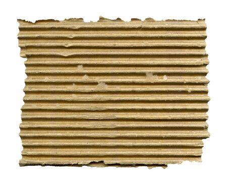 torn edges: Textured ribbed cardboard with torn edges isolated over white