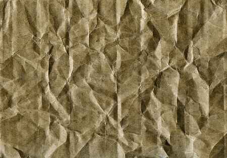 Textured obsolete crumpled packaging vintage paper background