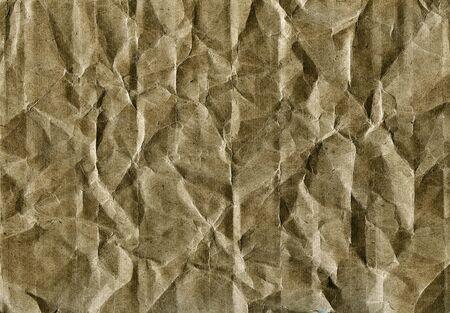 obsolete: Textured obsolete crumpled packaging vintage paper background