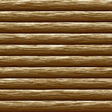 log wall: Weathered wooden logs natural pattern background, digital illustration Stock Photo