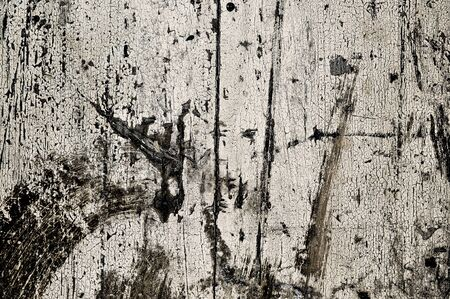 obsolete: Obsolete weathered cracked white painted wood background
