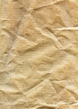 textured paper: Textured obsolete crumpled packaging brown paper background