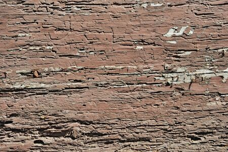 obsolete: Obsolete weathered cracked brown painted wood background Stock Photo