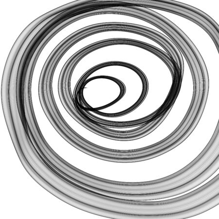 spiral pattern: Abstract generated graphic black spiral pattern ornate over white