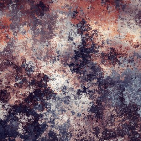 Abstract generated weathered rust metal surface background Stock Photo