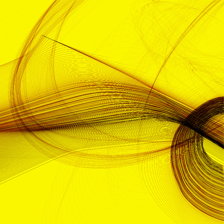 Abstract generated black pattern over yellow background Stock Photo