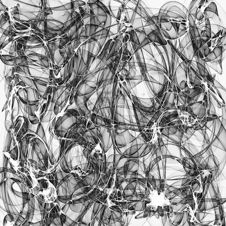 Résumé de fond généré en noir et blanc Banque d'images
