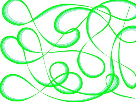 Abstract generated graphic green art pattern white background