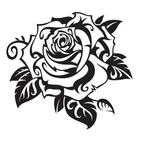fekete-fehér: Rózsa