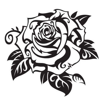 a tattoo: rosa Vectores