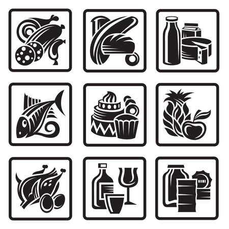 food icons Stock Vector - 11473290