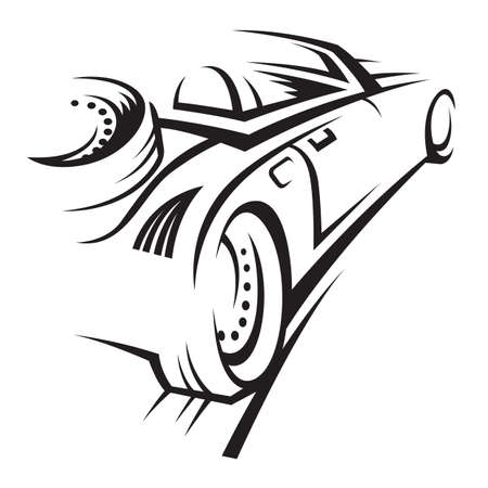 motor car: car Illustration