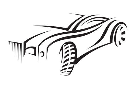 automobile industry: car Illustration