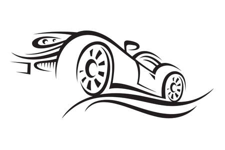 flown: car Illustration