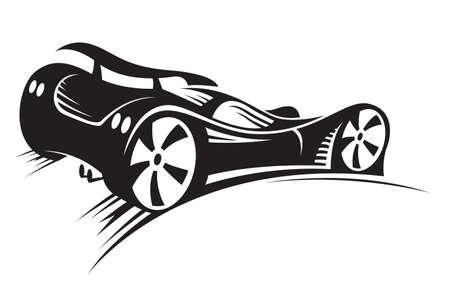 course de voiture: voiture Illustration