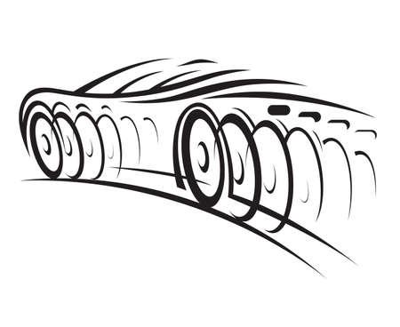 fast auto: car Illustration