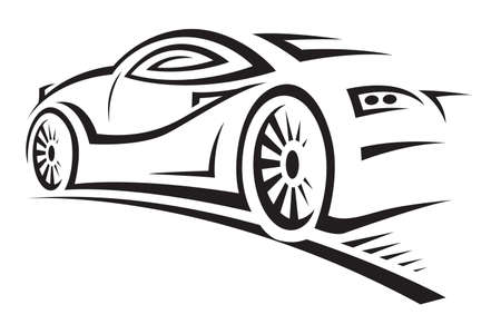 headlight: car Illustration