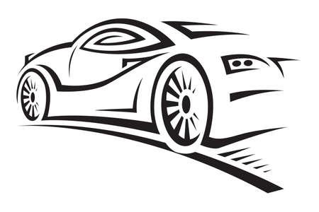 silhouette voiture: voiture Illustration