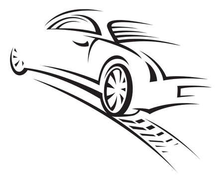 car silhouette: car Illustration