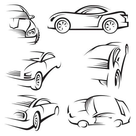 silhouette voiture: voitures