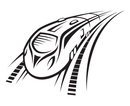rapid train Vector