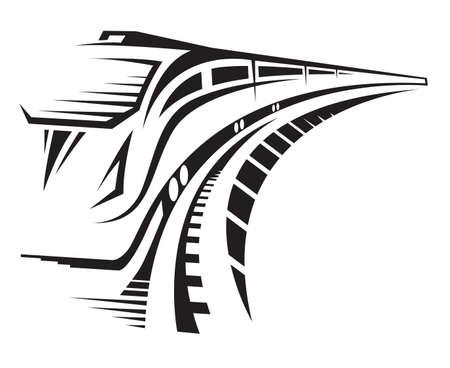 szynach: Szybki pociąg Ilustracja