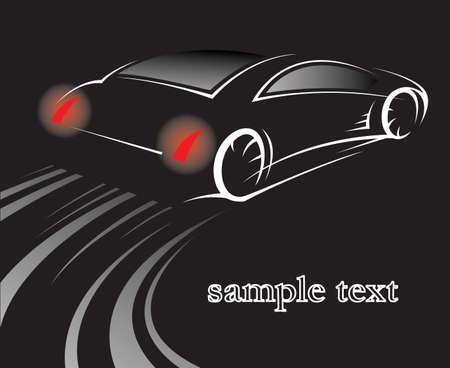 fast auto: car on black