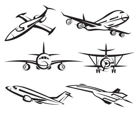 aereo icona: collezione di aerei