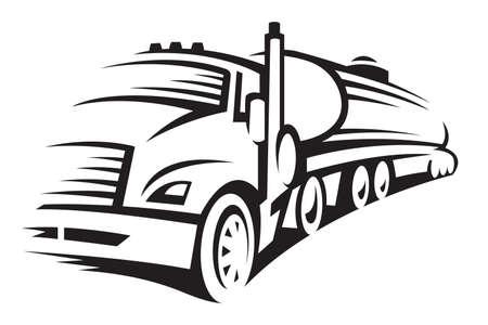 ciężarówka do przewozu paliw Ilustracje wektorowe