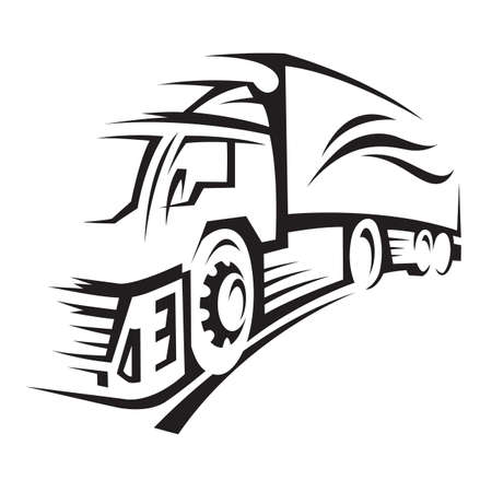 lkw stra�e: LKW Illustration