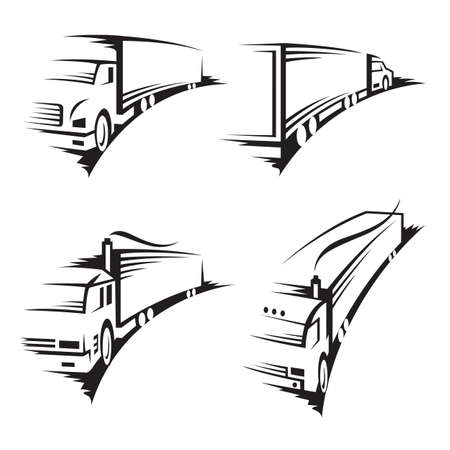 set of trucks Stock Vector - 11650399