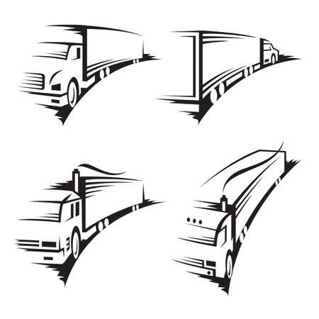 ruchome: zestaw ciężarówek