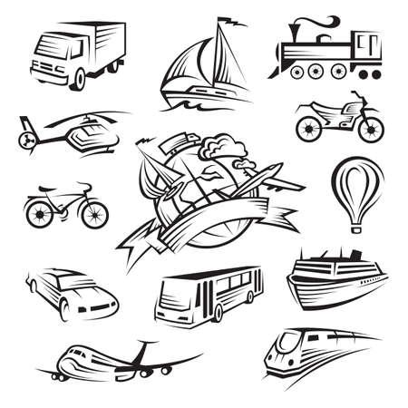 locomotora: colecci�n de iconos de transporte
