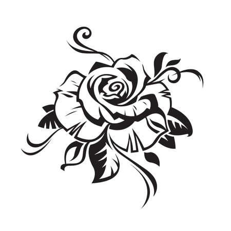 isolado no branco: rosa Ilustração