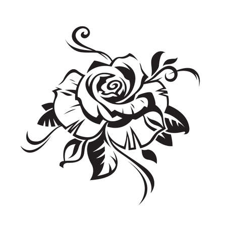 black в white: rose