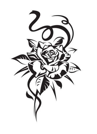 flower tattoo design: rose