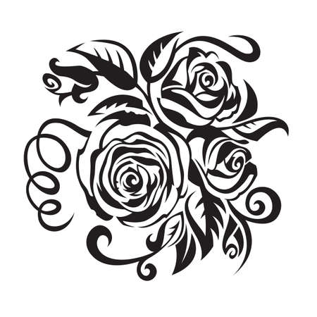 rose garden: roses