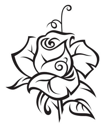 tatouage fleur: augment� Illustration